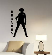 wall decals stickers home decor home furniture diy cowboy custom name decal personalized wall sticker western vinyl art decor cw1