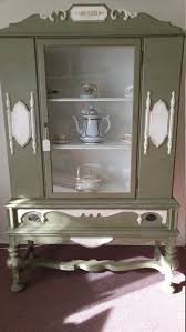 China Cabinet Buffet Hutch by 1930 U0027s Hand Painted Antique China Cabinet Hutch Dining Room