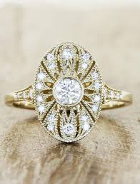 vintage rings designs images Aurelia oval shaped ornate diamond engagement ring ken dana jpg
