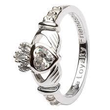claddagh rings silver claddagh birthstone ring silver claddagh rings