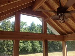 Outdoor Patio Ceiling Ideas by A Brand New Gable Roof Screen Porch For These Auburn In Homeowners