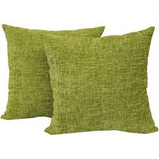Clearance Decorative Pillows Mainstays Chenille Decorative Throw Pillow Set 2pk Navy