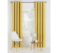 Blackout Curtains And Blinds Buy Collection Linen Look Blackout Curtains 117x137cm Ochre At