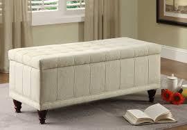 linen storage ottoman bench furniture superb fabric ottoman storage bench design for modern