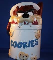 taz chewing on a cookie jar kitchen collectibles cookie jars at