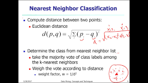 big data class k nearest algorithm knn data science big data