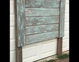 twin full queen king size barn door headboard rustic