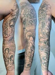 sleeve scroll tattoos golfian com