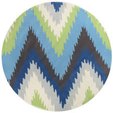 Green Round Rug by Grace 630 Blue Green Round Modern Rug Rugtastic