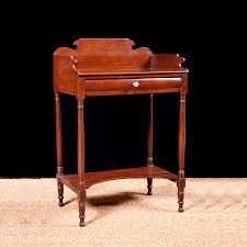 Vintage Bedroom Furniture 1940 Antique American Sheraton Washstand In Mahogany With Turned Legs