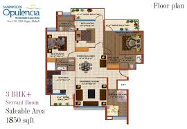3 Bhk Apartment Floor Plan by Floor Plans 3bhk 4 Bhk Mohali Apartments Sandwoods Opulencia