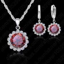aliexpress necklace set images Jexxi wholesale price wedding jewelry set 925 pure silver cubic jpg