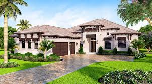 southern contemporary house plan with outdoor living in back