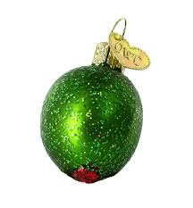 amazon com old world christmas stuffed green olive glass blown