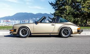 gold porsche convertible 1983 porsche 911 sc targa lamborghini calgary