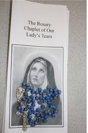 s tears rosary chaplet rosary of our s tears
