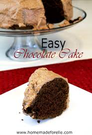 easy chocolate cake recipe homemade for elle