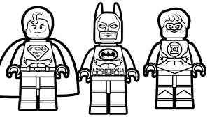 lego batman and lego superman with lego green lantern coloring