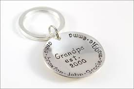 unique keychain s established keychain sterling silver personalized