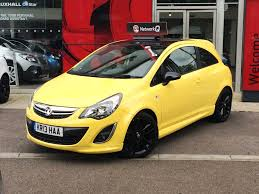 vauxhall corsa black vauxhall corsa le yellow with black roof for sale at slm tunbridge