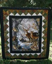 quilt patterns with deer panels kits include pattern and fabric