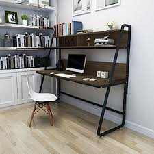 triblesigns computer desk with hutch modern metal frame writing