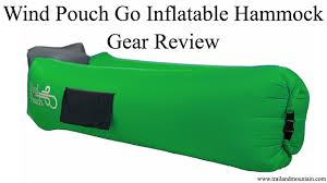 wind pouch go inflatable hammock review youtube