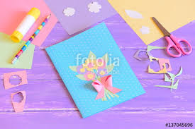 creating a greeting card for mom step card with flowers made of