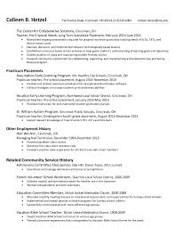 Kindergarten Teacher Resume Examples by Sample Resume For Kindergarten Teacher Sample Teacher Resumes