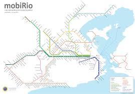 Urban Map Map Of Rio De Janeiro Commuter Rail Stations U0026 Lines
