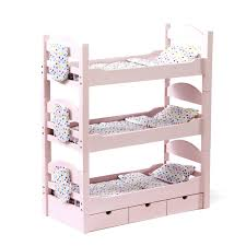American Made Bunk Beds 46cm Doll Furniture Lovely Bunk Bed Includes 3 Stackable