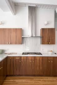 mid century modern walnut kitchen cabinets this mid century modern kitchen cooks up a mid