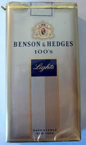 benson hedges 100 s lights park avenue vintage american