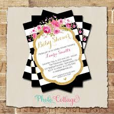 baby shower invitation glitter gold pink invitation baby shower