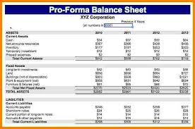 Pro Forma Financial Statements Excel Template 6 Pro Forma Financial Statements Exle Statement 2017