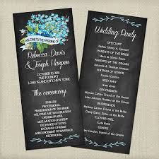 chalkboard wedding program free wedding program templates wedding program ideas