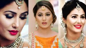 akshara wedding hairstyle hina khan aka akshra from yeh rista kya kehlata hai makeup