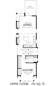 narrow cottage plans home plan for a narrow lot 6989am architectural