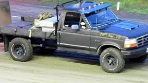1993 ford f150 flat bed truck pull youtube