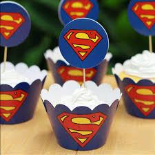 superman baby shower aliexpress buy 24pcs set superman cupcake wrappers