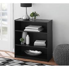 Mainstays 5 Shelf Bookcase Alder Mainstays 3 Shelf Wood Bookcase Multiple Colors Ebay