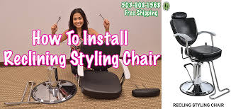 Reclining Styling Chair Salon Chairs For Sale Reclining Hydraulic Unboxing And Install