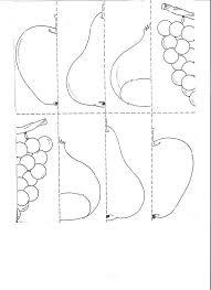 easy fruit puzzle worksheet χωροχρονικες εννοιες pinterest
