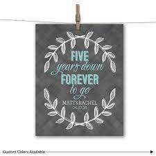 5 year wedding anniversary gift ideas five years forever to go five 5 year wedding anniversary gift