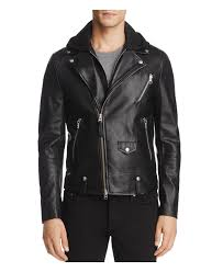 padded leather motorcycle jacket mackage magnus hooded leather motorcycle jacket in black for men
