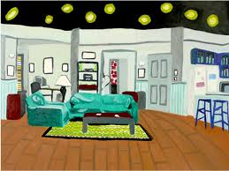 seinfeld garage these illustrations of iconic sitcom living rooms will feed your