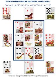 gypsy witch fortune telling playing cards layout for