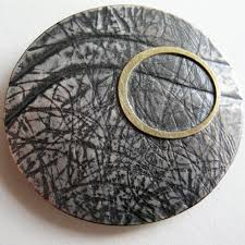 scottish jewellery designers watery brooch oxidised contemporary brooches by