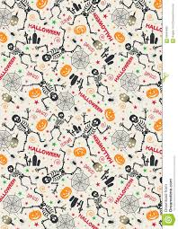 Dancing Halloween Skeleton by Halloween Pattern Skeleton In White Background Stock Illustration