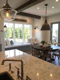 kitchen island shiplap wood beams kitchen nook modern